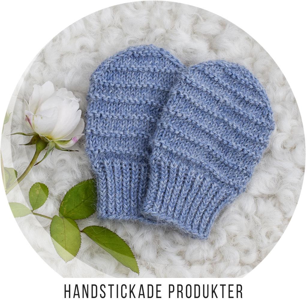 Handstickade Produkter - Vantar och Pulsvärmare / Handledsvärmare
