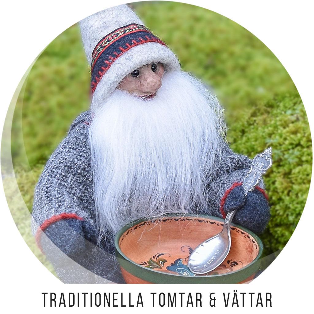 Traditionella handgjorda Tomtar och Vättar